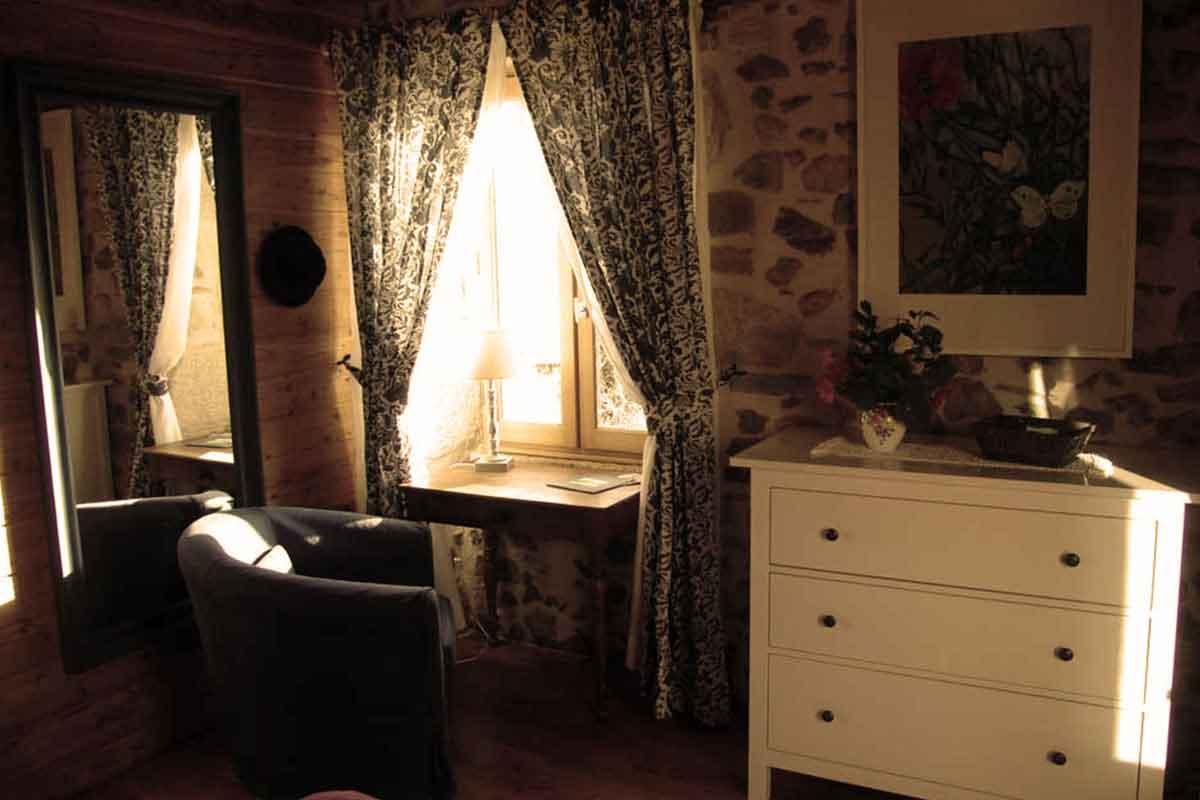 Chambre espace champêtre